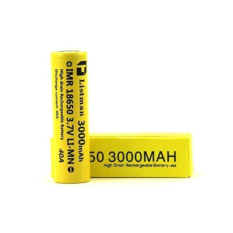 Accu 18650 - ACCU LISTMAN 40A 3000 mah