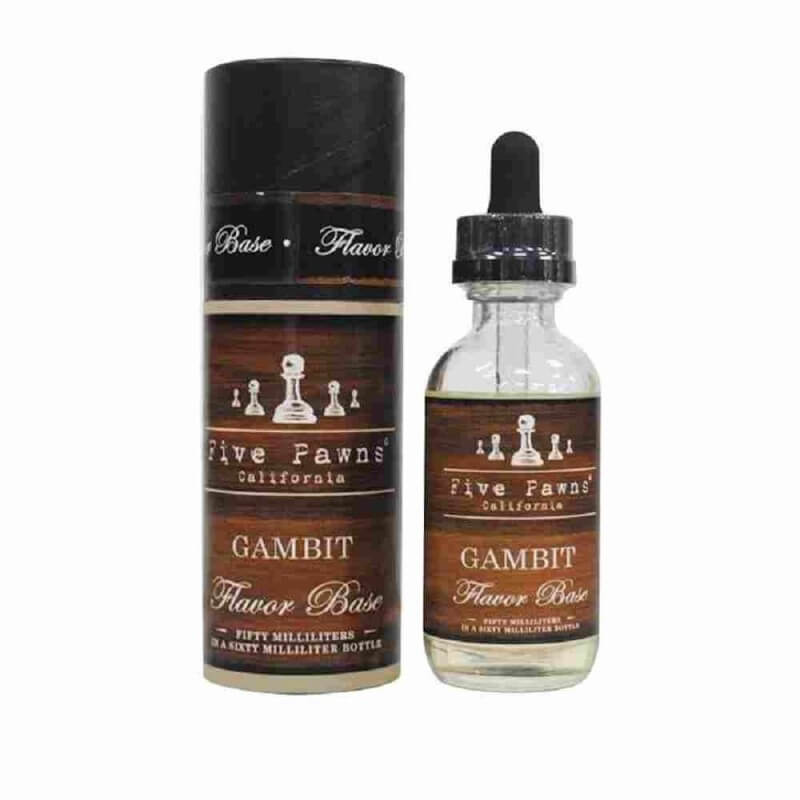 GAMBIT 50ML 0MG FIVE PAWNS Les Gourmands 24,90€