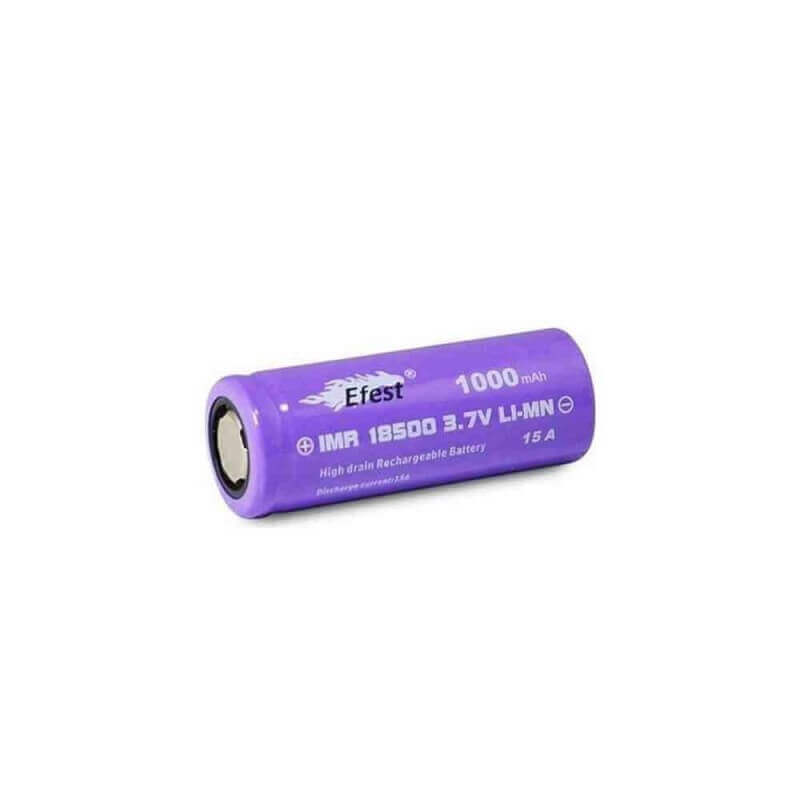 ACCU EFEST 18500 purple 1000 MAH FLAT TOP X 7,99 €